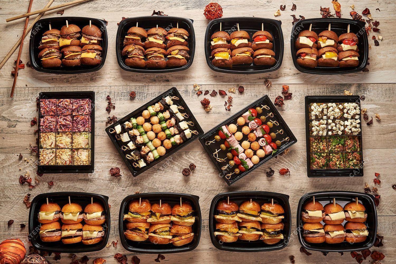 Суши-канапе-бургеры